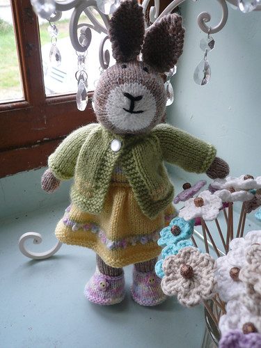 Sugar almond bunny with cardigan