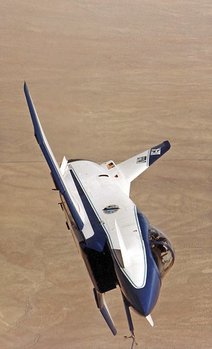 NASA Photo - X-31A front view banked in flight