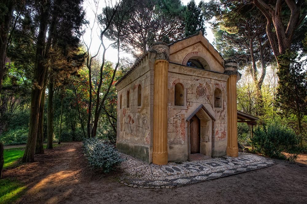 Hermitage – La Ermita, Jardín El Capricho, Madrid (Spain), HDR