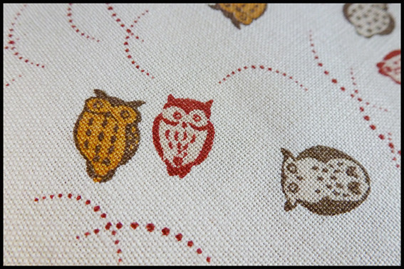 Owl fabric from Saints and Pinners