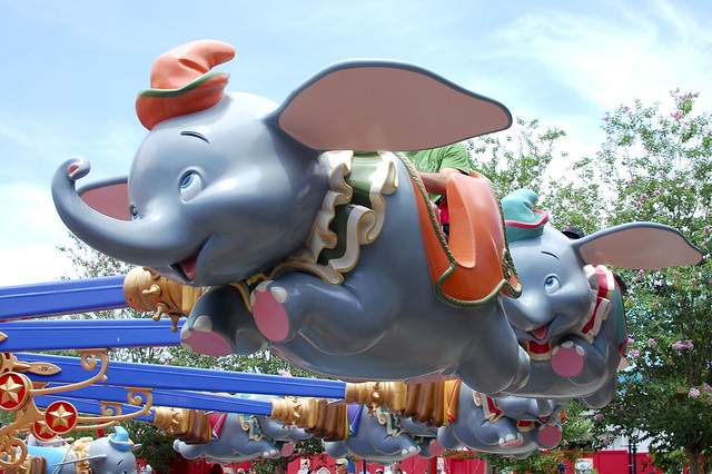 Dumbo's flying.