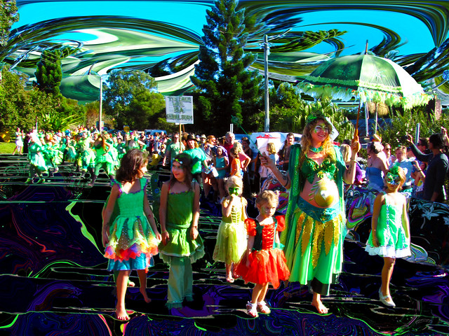 may queen's retinue - Nimbin Mardi Grass