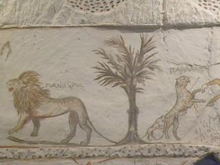 Hellenistic tomb paintings at Marisa Y
