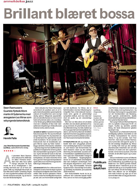 Leo Minax & Steen Rasmussen Quintet (Montmartre Jazzhus - CPH)