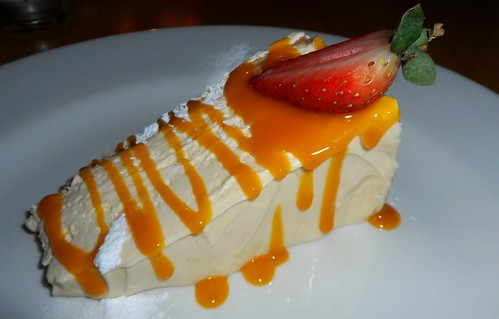 Mango Cheesecake at the Grange Restaurant in North Berwick