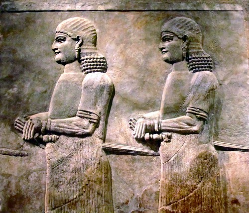 Stone reliefs of Eunuchs from the palace of Sargon II (722-705 B.C.) at Khorsabad, Oriental Institute Museum, University of Chicago