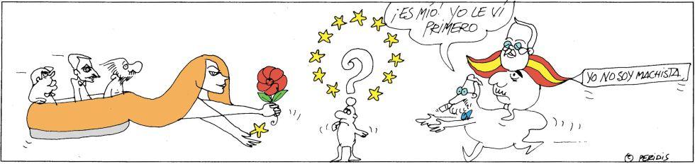 Última viñeta publicada por 'Peridis' en El País.