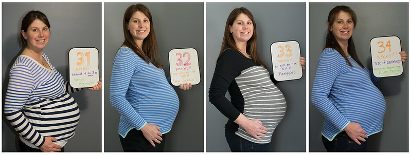 Belly photo week 31-34