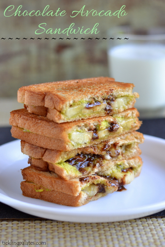 Chocolate Avocado Grilled Sandwich Recipe