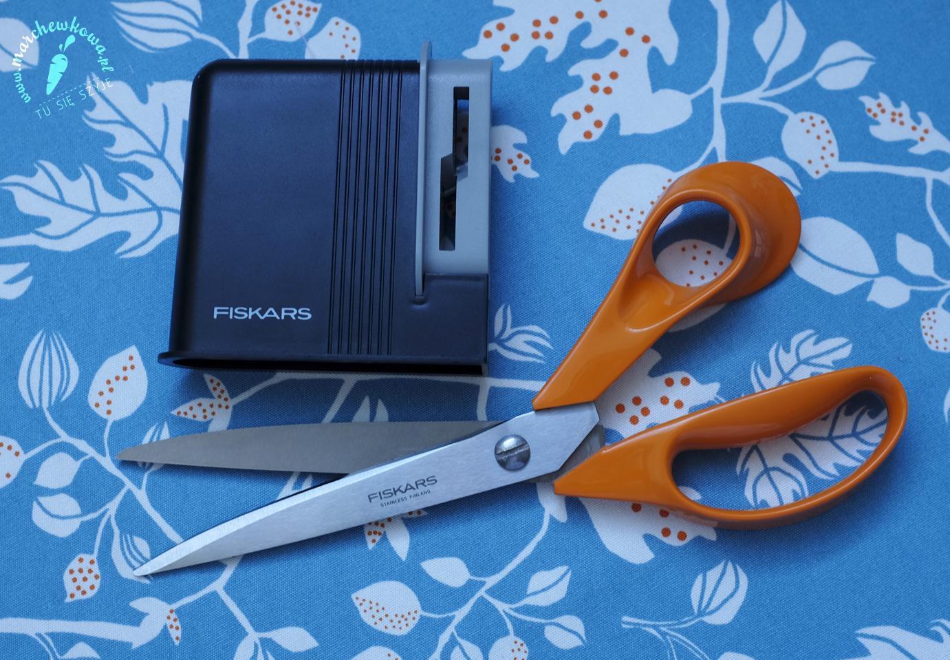 marchewkowa, blog, recenzja, nożyczki, ostrzałka, Fiskars