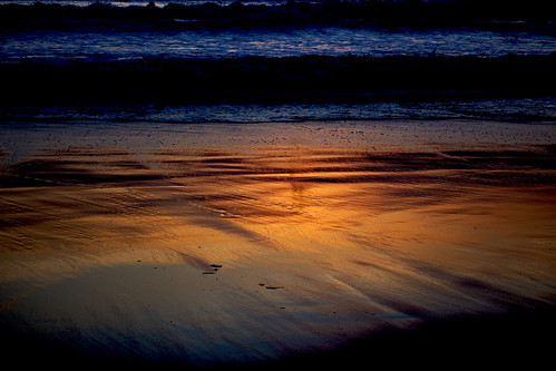 chile sunset orange beach beautiful canon landscape eos rebel reflex sand waves wave arica t5i