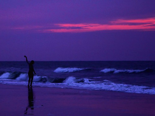 ocean ballet orange beach silhouette sunrise myrtlebeach purple dancer