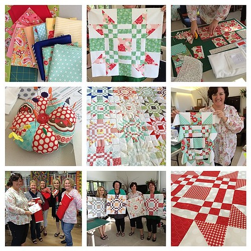Such a fantastic group in my class at @fifisfabricology today! A Red Letter Day for sure! #quiltabout #redletteraustralia