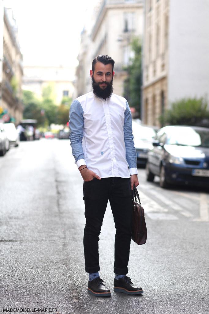 Maxence at Paris Fashion Week menswear day 1