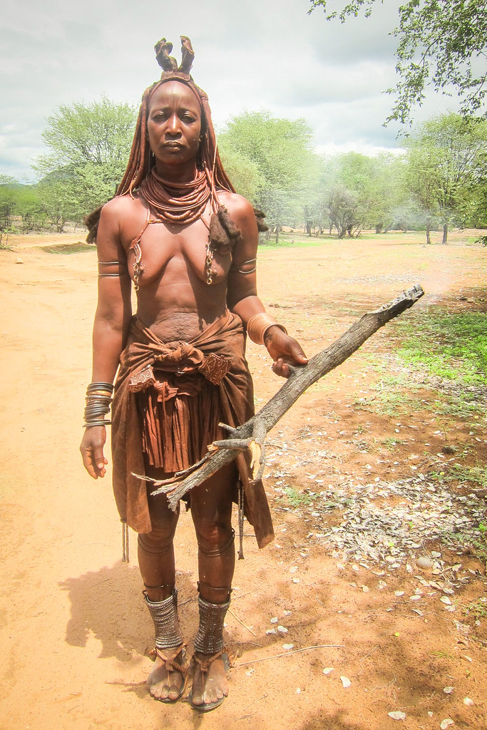 Himba women in the Kunene region, Namibia