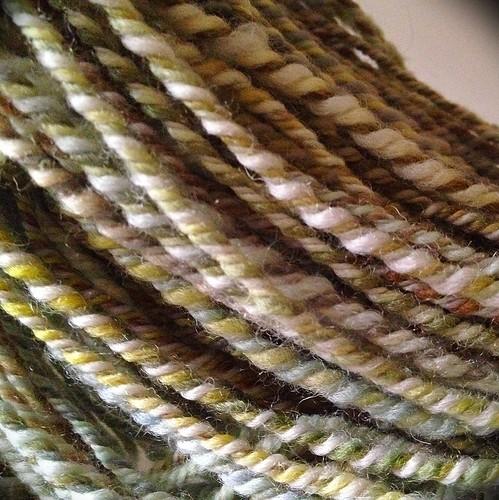 Love it when yarn poufs up after a bath :D