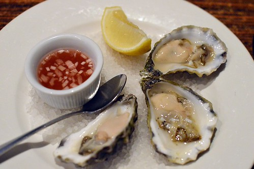 Bitton Gourmet: Freshly shucked oysters with red wine vinegar and shallots