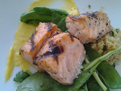 Bincho Charcoal Grill Salmon