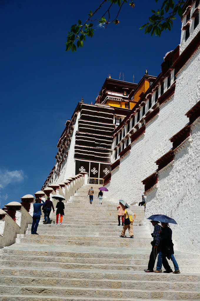 Stairs to Potala Palace