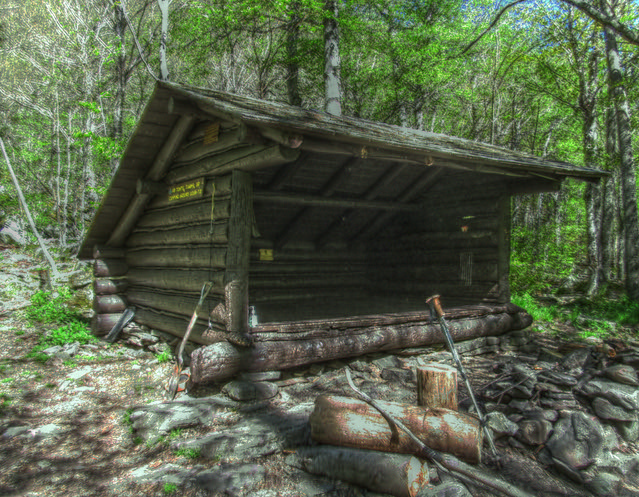 The Mink Hollow lean-to