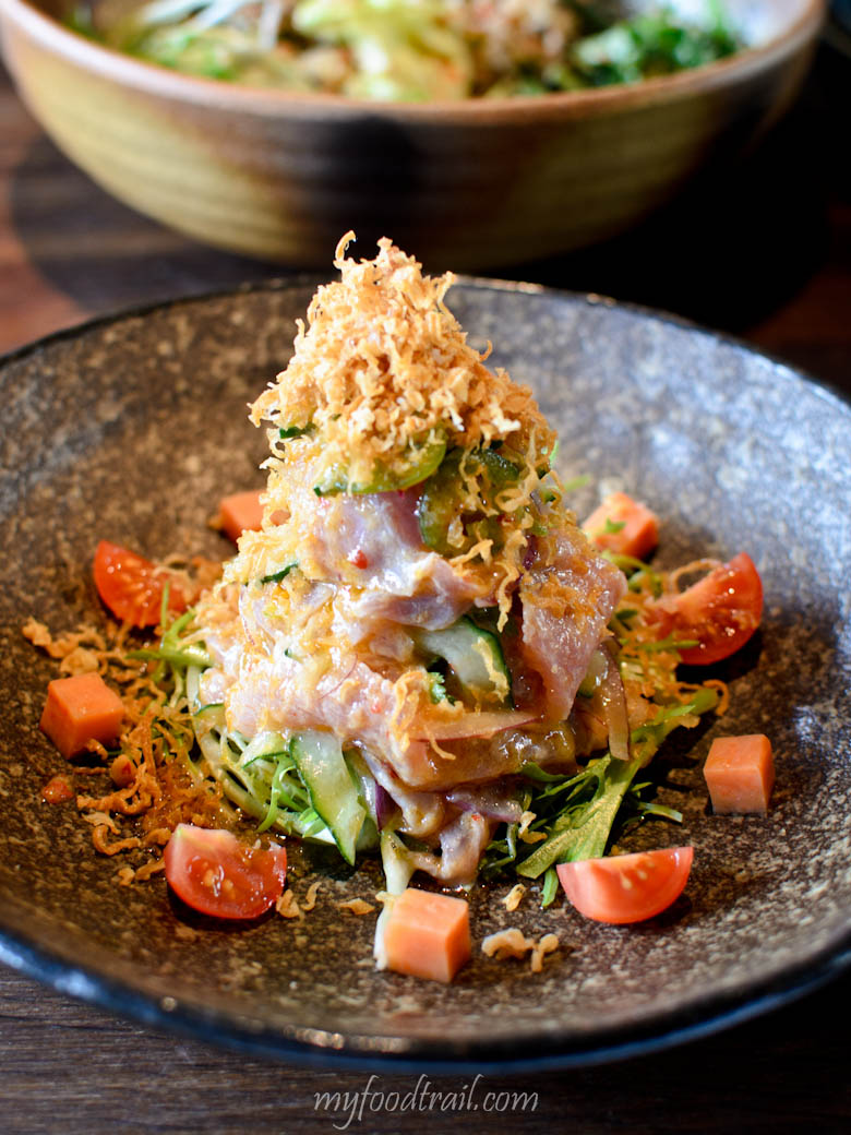 Tuna ceviche - lemon dressing, finished with coriander, jalapeno chilli, tomato & crunchy fried onion - Sake Restaurant, Melbourne