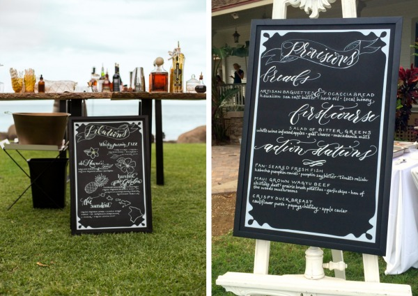 Wedding Menu Chalkboards by Hello Framboise