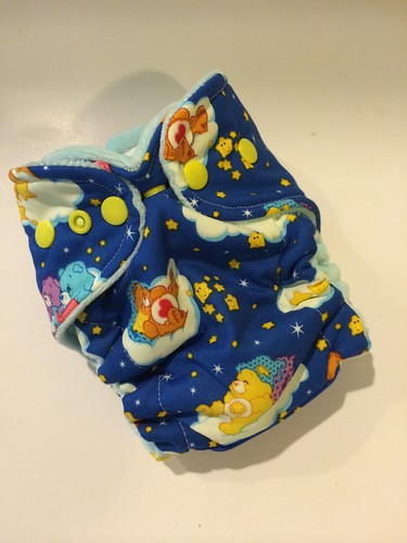Bumstoppers Newborn Hybrid  Fitted Glow in the Dark Care Bears