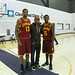 Tristan and Kyrie Post with Cavs Fan Joe Haden