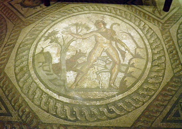 Actaeon from the Seasons Mosaic, Corinium Museum (Cirencester)