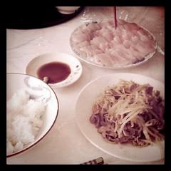 太刀魚のお刺身でお昼ご飯