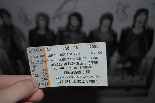 Asking Alexandria ticket c: