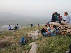Easter sunrise service on Mount Precipice in Nazareth