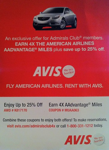 Marketing offer from Avis
