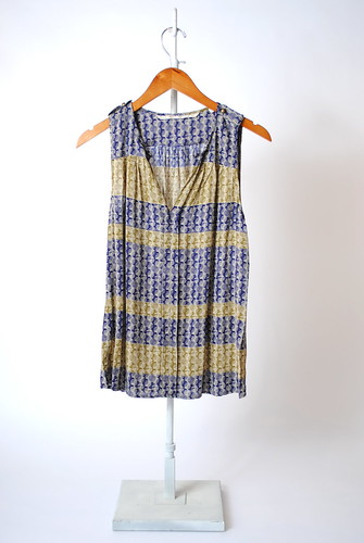 Geo Stripe Sleeveless Top