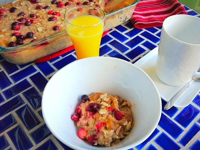 Healthful Baked Oatmeal Closeup