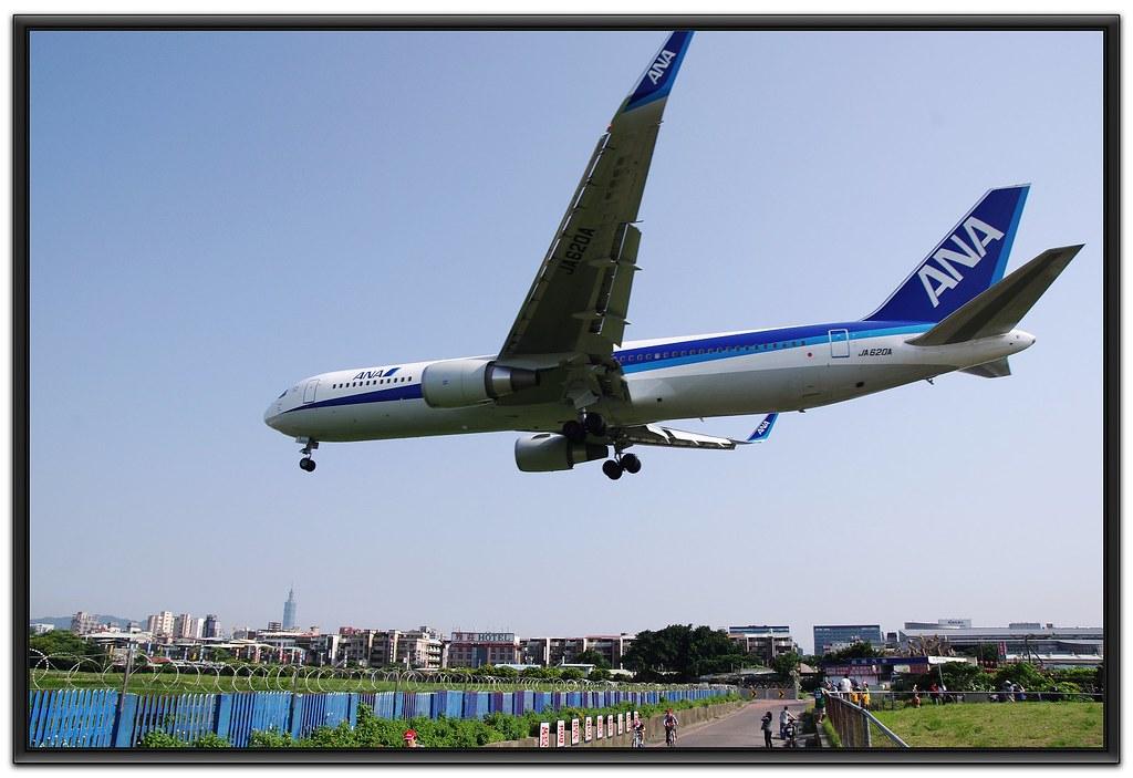 松山機場跑道頭抓飛機