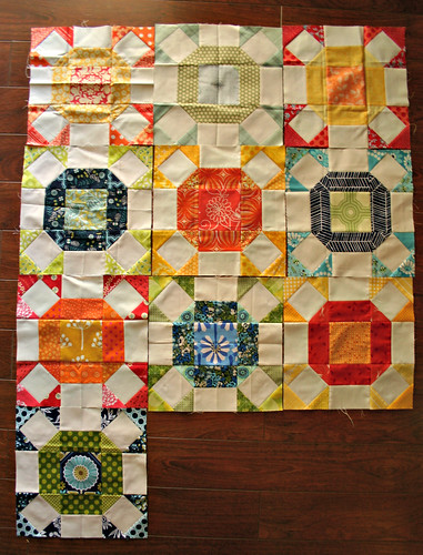 Radiant Ring quilt in progress