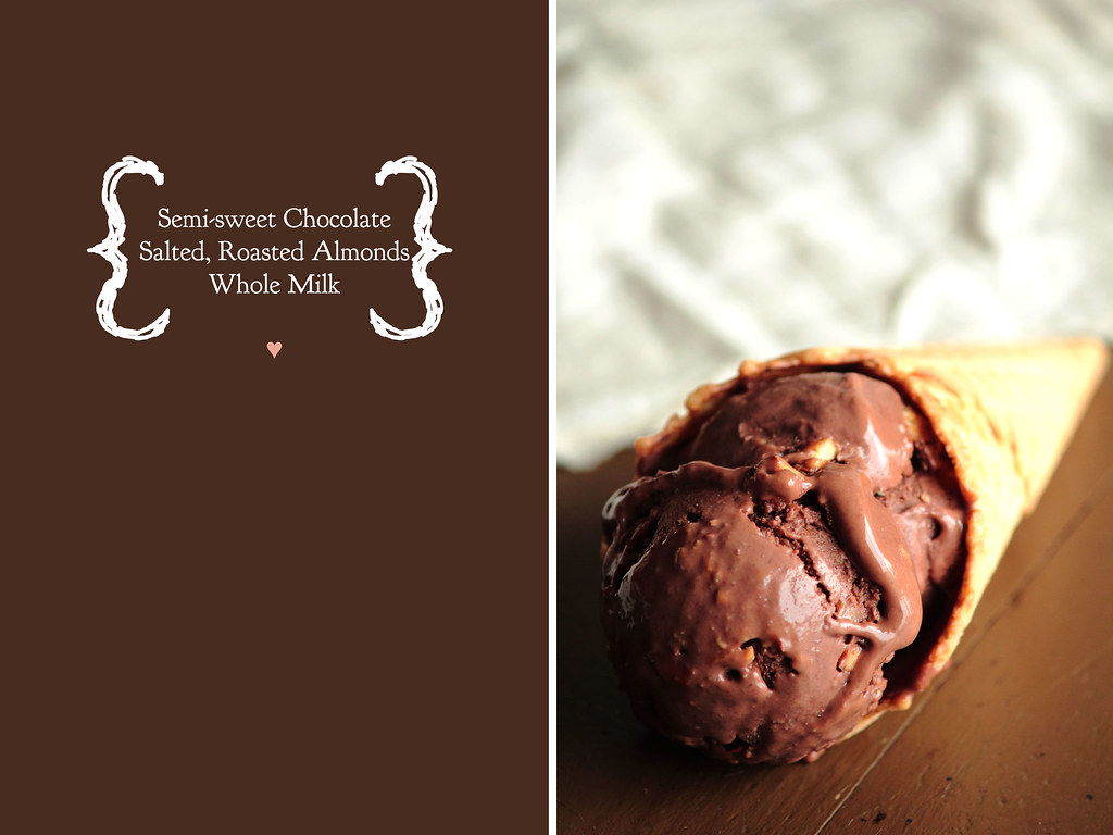 Chocolate Salted Almond Ice Cream