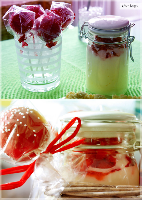 Lemon & Lime Mousse with strawberries and Cake Pops // Mother's Day