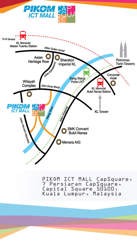 PIKOM ICT MALL CAPSQUARE Location Map