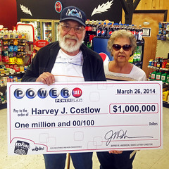 Harvey Costlow -$1,000,000 on Powerball
