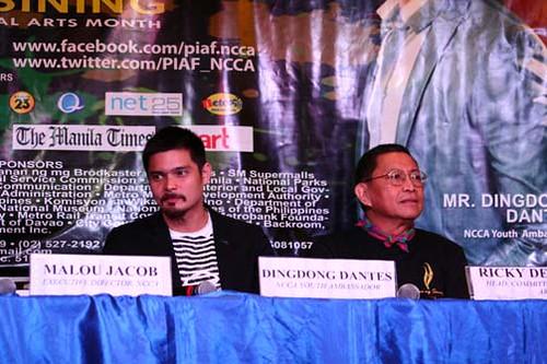 Presscon with NCCA Youth Ambassador Dingdong Dantes @ the NCCA Lobby