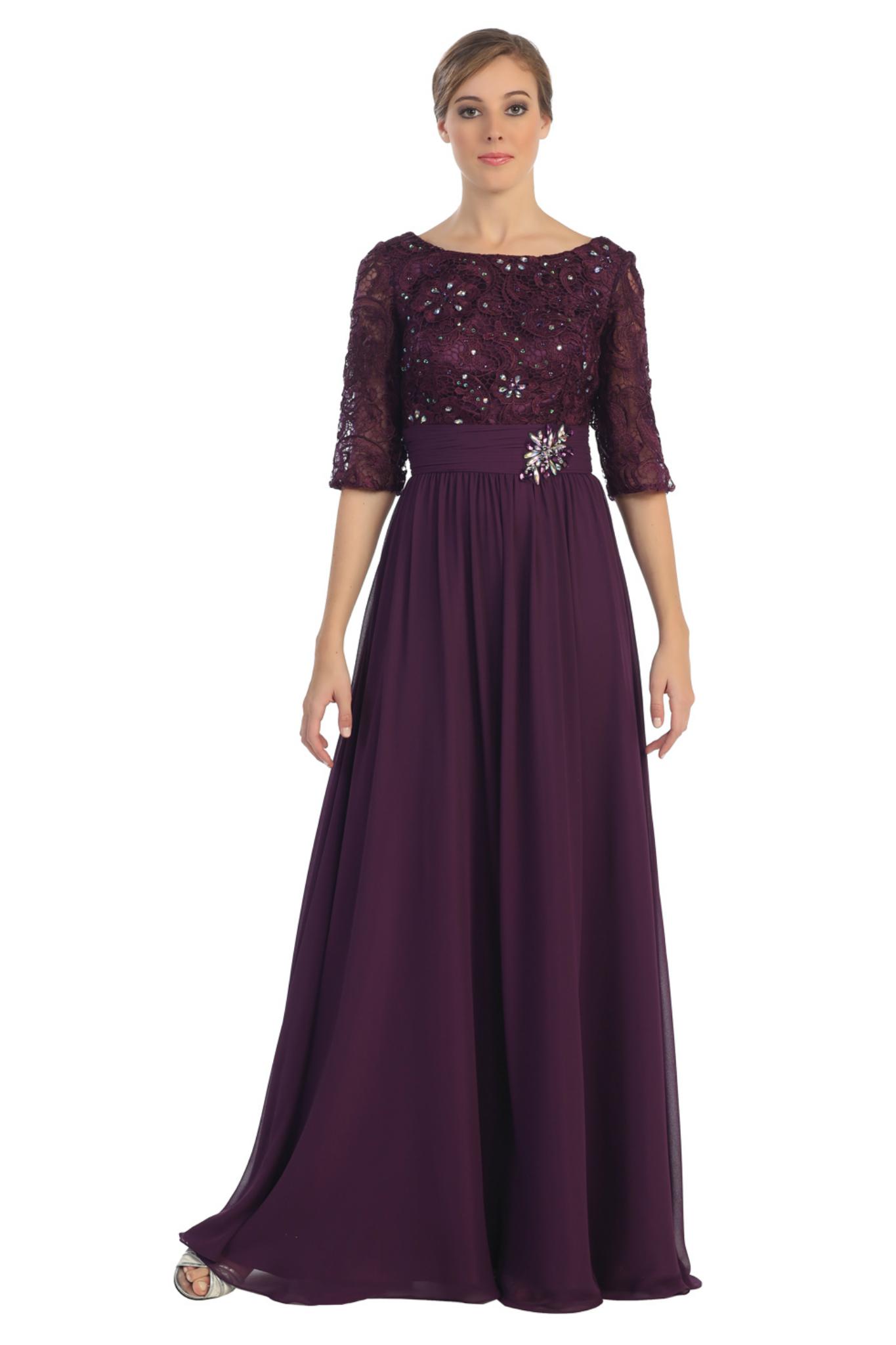 Plum Mother Of The Bride Dresses - Cheap Wedding Dresses