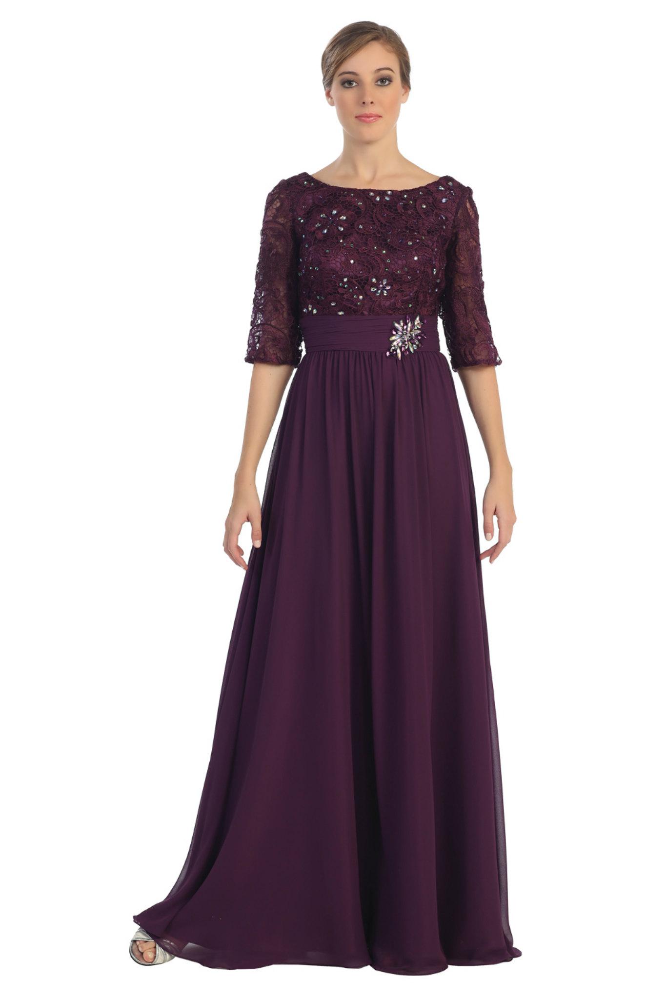 Elegant Formal Lace Mother of the Bride Groom Modest