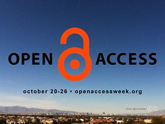 Free Poster for Open Access Week October 20-26 #openaccess #oaweek @SPARC_NA @Open_access (Blue Sky City Version)