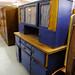 Tall pine and blue kitchen dresser
