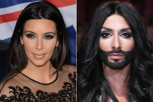Kim and Conchita