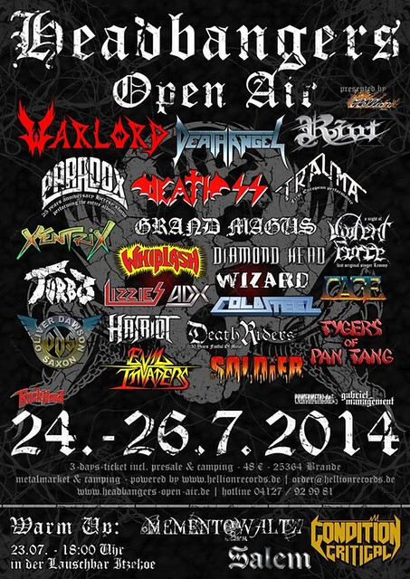 07/24 - 26/14 Headbangers Open Air 2014 @ Brande-Hornekirchen, Germany