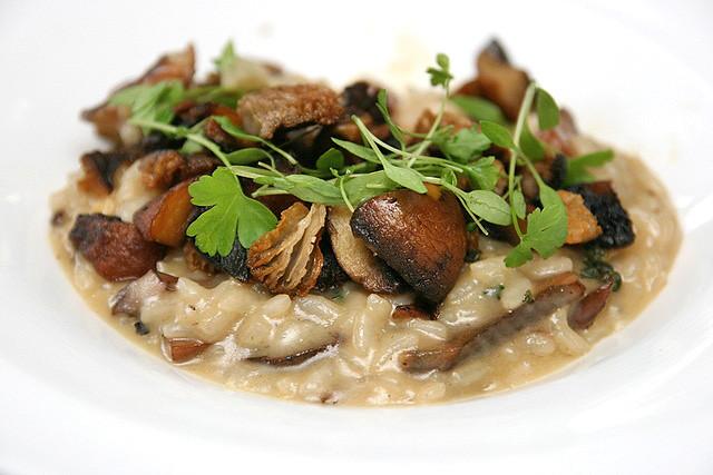 RISOTTO AL FUNGHI (AU$26): Mushroom Risotto