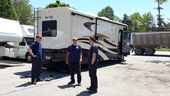 Fred and the guys at Ehrhardt's going over the towing system